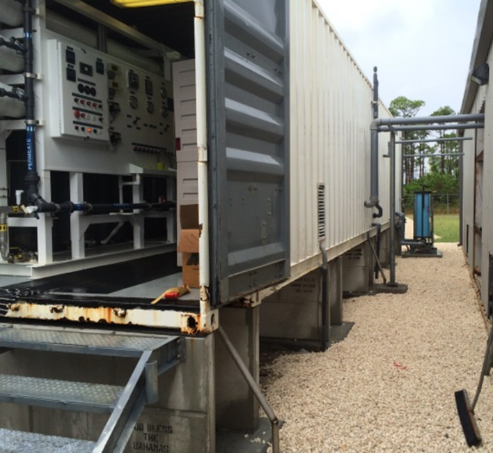 Containerized Seawater RO for Industrial Process in Freeport