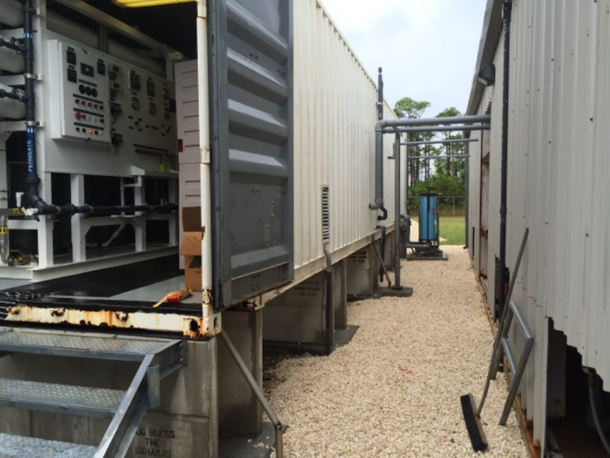 Containerized Seawater RO System Installed in Bahamas