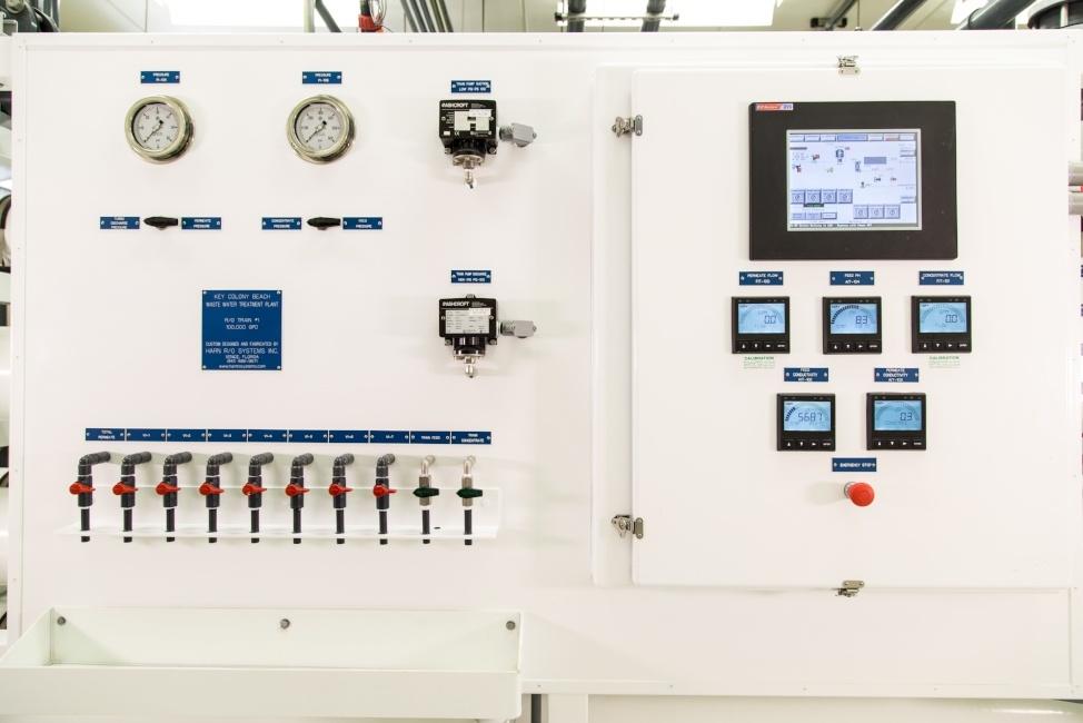 Seawater Reverse Osmosis Skid Instrumentation Plant in Key Colony Florida